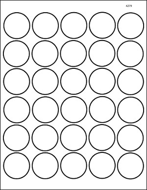 Clear Matte Laser Printable Round 1 1/2 inch Labels 50 Sheets 4279CM