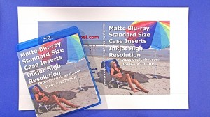 Blu-ray Case Inserts High Resolution Matte 50 sheets 43383HR