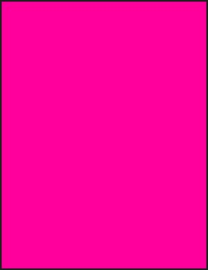8 1/2 x 11 Full Sheet Fluorescent Pink Labels 50 sheets P8511