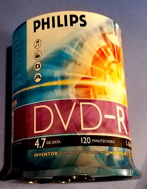 Philips DVD-R 100 pack 16x Silver Logo Top