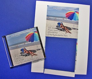 CD Jewel Case Glossy Insert Single Panel 25 sheets CJG912CP