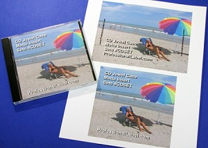 CD Jewel Case Matte Printable Inserts Front and Back 25 Sheets CDSET