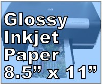 32 lb Lightweight Photo Gloss Inkjet Paper 8.5 x 11 Letter 25 sheets 8500JG