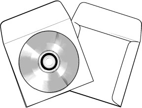 CD DVD Paper Sleeves with Window and Flap 100 WPFCD